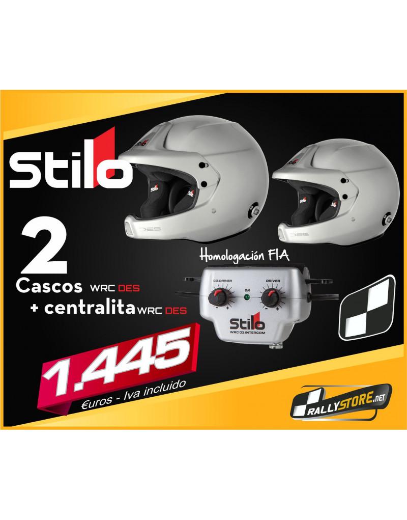 Pack 2 cascos Stilo WRC y centralita Stilo WRC 03