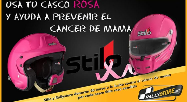 Casco Stilo rosa cancer de mama