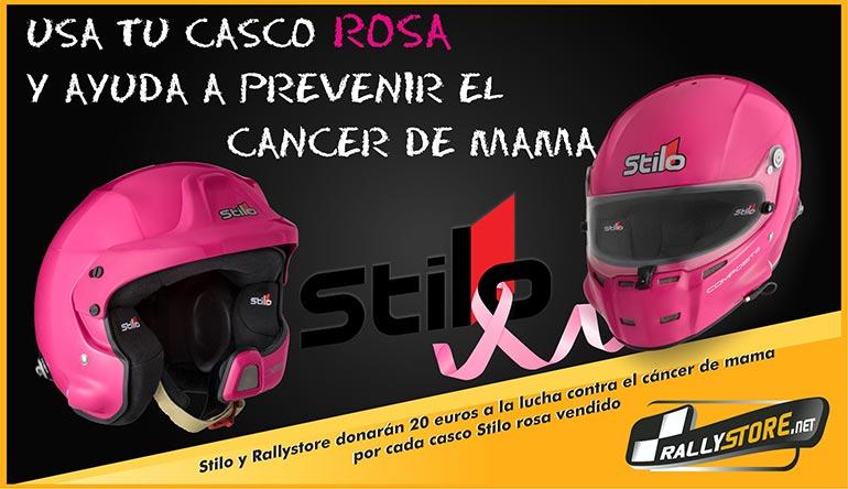 Casco Stilo rosa cancer de mama