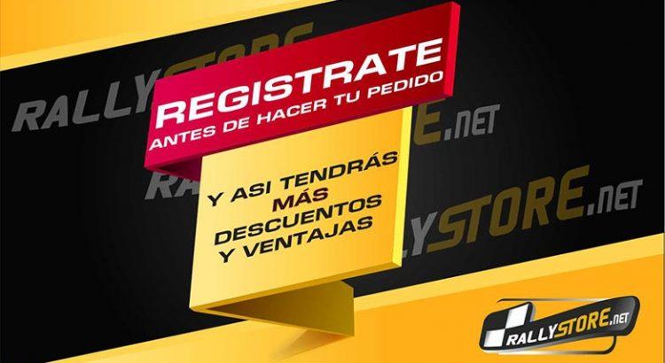 Registrate en Rallystore.net